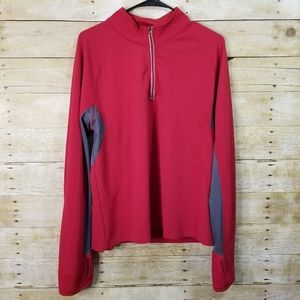 Champion Red Quarter Zip Pullover Hoodie Size XL